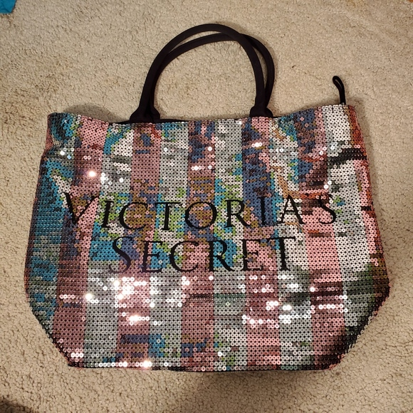 Victoria's Secret Handbags - 2/$20 Victoria Secret VS sequins large tote w/ zip
